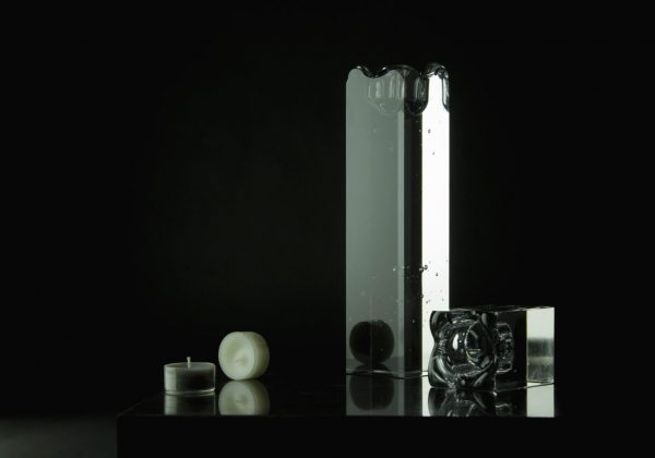 solid glass tea candle holder baibaglass